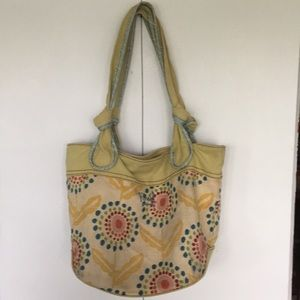 Fossil yellow flower shoulder bag